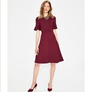 NWT Boden Alexis Jersey Dress Mulled Wine Sz 6